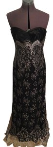 Carmen Marc Valvo Evening Gown Strapless Lace Dress