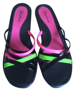 Skechers Black,pink,yellow green Sandals