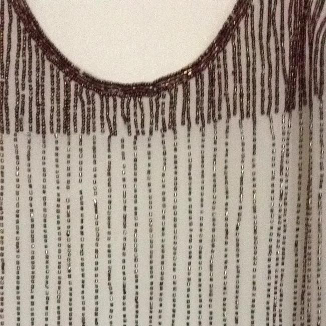 Willow & Clay Beaded Top Off White With Brown Beading