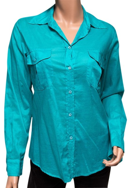 Preload https://img-static.tradesy.com/item/8573485/max-mara-teal-weekend-button-down-top-size-4-s-0-5-650-650.jpg