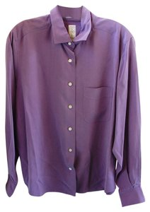 Nordstrom 100% Silk Top Lilac