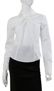 Laundry by Shelli Segal Lace Up Top White