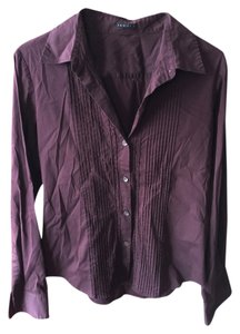 Theory Button Down Shirt Wine