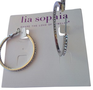 Lia Sophia Lia Sophia Standing Ovation Silver Earrings with crystals