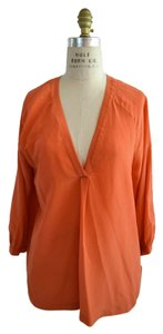 Joie Silk Shirt Top orange