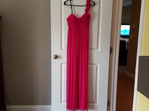Jodi Kristopher Pink Marine Corp Ball Dress