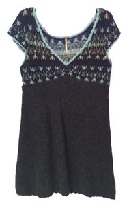 Free People short dress Grey and blue on Tradesy