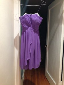 Donna Morgan Purple Polyester; Lining Is Acetate Feminine Dress Size 4 (S)