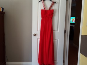 Morgan & Co Red Marine Corp Ball Dress