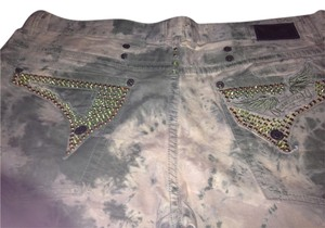 Robin's Jean Robins Usa Turquoise Studs Straight Leg Jeans-Distressed