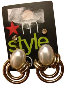 my style lab Set Of Pearl Earrings