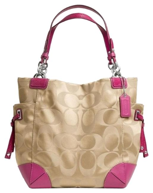 Item - Peyton Gold / Pink Satin Tote
