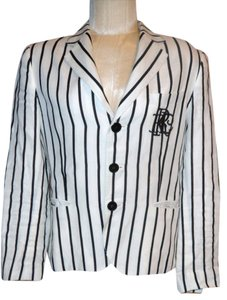 Ralph Lauren White with Black Striped Blazer
