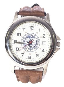 Gents Padre Gents Pedre Seal Of The State Of PA Silver-Tone Wrist Watch w/ Leather Band (5175)