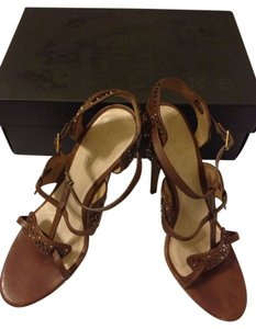 L.A.M.B. Dark Brown Sandals