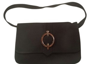 Franchi Black Vintage Look Clutch