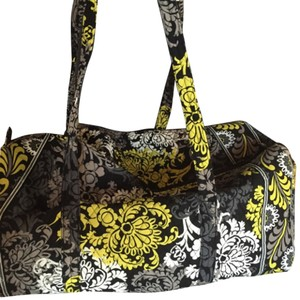 Vera Bradley Black, Grey, White, Chartreuse Travel Bag