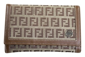 Fendi * Fendi Canvas/Leather Brown Wallet