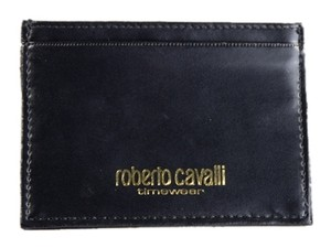 Roberto Cavalli * Roberto Cavalli Black Leather Card Wallet