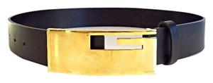 Gucci Gucci Oversized Gold G Buckle Belt