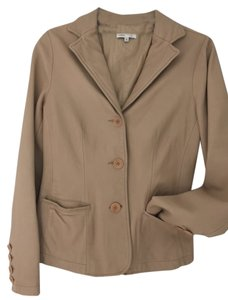 Vince Blazer Leather Tan Leather Jacket