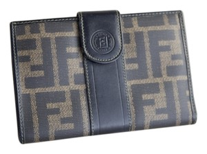 Fendi Fendi Coated Canvas Wallet