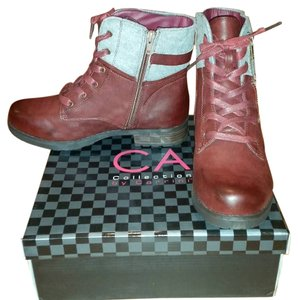 Carrini Red and Gray Boots
