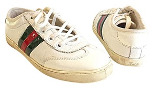 Gucci Sneakers Leather White/Red/Green Athletic