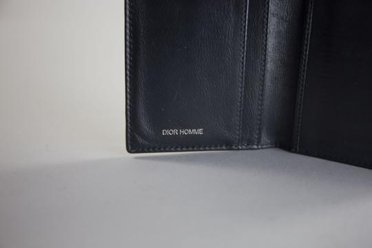 Dior Dior Homme Pleated Patent Leather Black Wallet Image 3