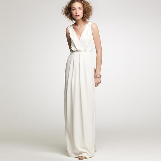 Crepe Wedding Gown: J.Crew Ivory Matte Silk Crepe Aveline Gown Wedding Dress