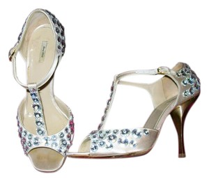 Miu Miu Beige, Satin Sandals