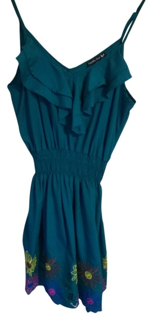 Double Zero short dress Dark Greenish Teal on Tradesy