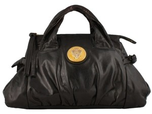 Gucci Leather Oversized Satchel in Black