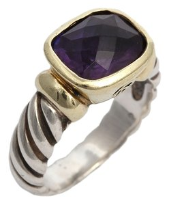David Yurman Amethyst Noblesse Two Tone Ring