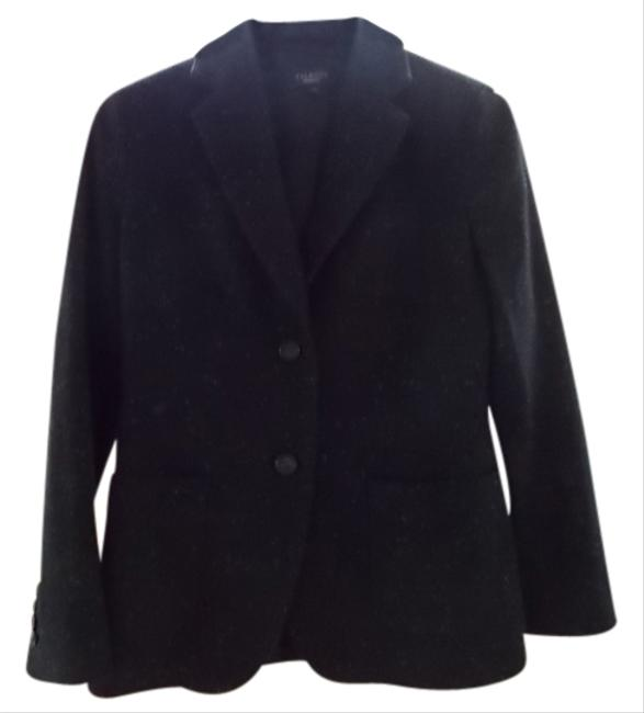 Ann Taylor Warm Black w/ white tweed Blazer