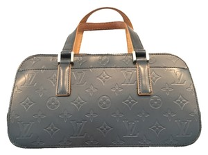 Louis Vuitton Lv Cute Classy Leather Silver Hardware Limited Edition Satchel in Grey/metallic mat