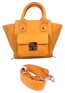 ALDO Mini Satchel in TANGERINE/YELLOW
