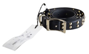 Marc Jacobs * Marc Jacobs Black Studded Leather Belt - Size 34