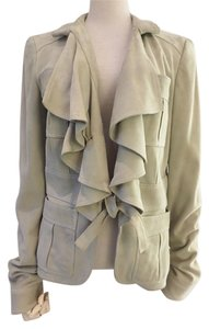 Gucci Suede Ruffle New Tan Jacket