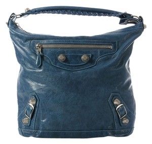 Balenciaga Bg.j0924.14 Sgh Ocean Day Blue Shoulder Bag