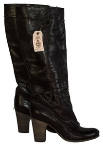 Fiorentini + Baker Leather 3 1/2 Heels black Boots
