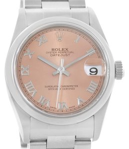 Rolex Rolex Midsize Datejust Salmon Roman Dial Ladies Steel Watch 78240