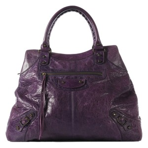 Balenciaga 2007 Violet Brief Satchel in Purple