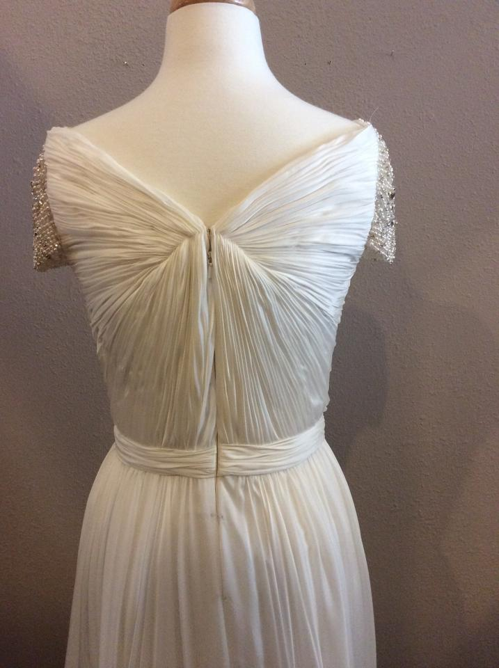 8b43c0a63ae Reem Acra Ivory Silk Olivia Wilde Feminine Wedding Dress Size 6 (S ...