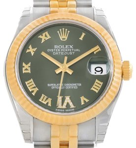 Rolex Rolex Datejust Midsize Steel 18k Yellow Gold Watch 178273 Unworn