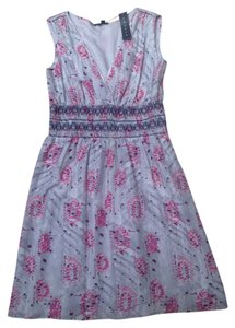 Theory short dress gray with pink and purple Spring on Tradesy