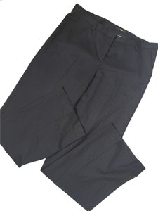Hugo Boss Classic Classy Work Trouser Pants Black with thin Pinstripe
