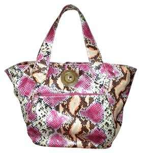 Kate Landry Satchel in Animal Print/Multicolor