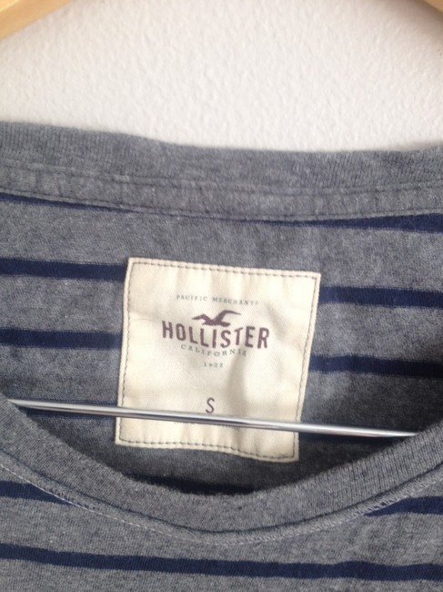 Hollister T Shirt Blue and Grey Image 1