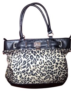 New York & Company Satchel in Animal Print